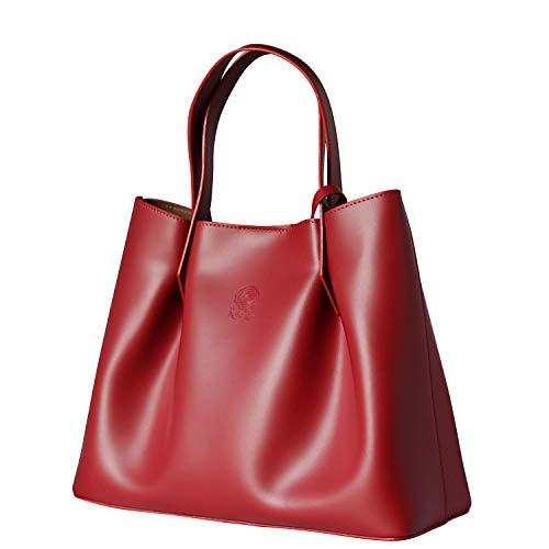 Italy Rosso Shopping Rosa nero Scuro Made In Vera Bag Pelle Lou Vivien Firenze zTPTqOwC