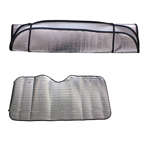 Price comparison product image LiPing Casual Foldable Car Windshield Visor Cover Front Rear Block Window Sun Shade Powerful UV-blocking Spf (1PCS)