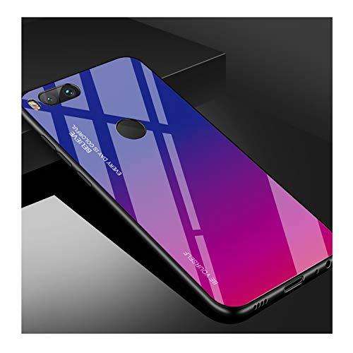 for Xiaomi Redmi Note 5 6 7 Pro 6A Case Gradient Tempered Glass Cover for Xiaomi Mi 8 A2 Lite A1 9 Mi8 Mi6 Mi9 Pocophone F1 Case,04,for Xiaomi Mi8 Lite