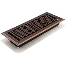 Accord AMFRLRBCA412 Cathedral Floor Register, 4-Inch x 12-Inch(Duct Opening Measurements), Light Oil-Rubbed Bronze