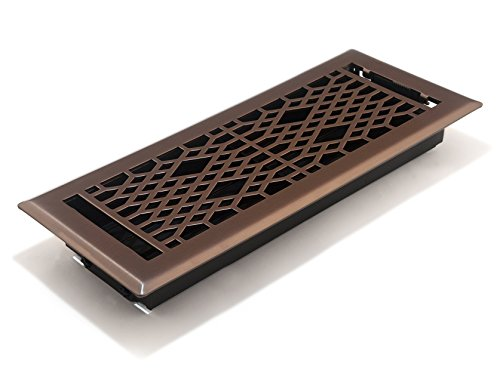 Accord AMFRLRBCA412 Cathedral Floor Register, 4-Inch x 12-Inch(Duct Opening Measurements), Light Oil-Rubbed Bronze ()