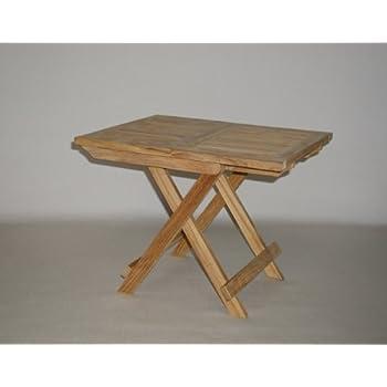 Amazon Com Folding Teak End Side Table Patio Side