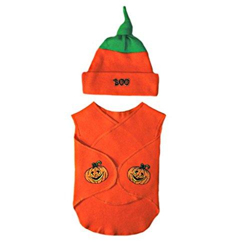 Jacqui's Unisex Baby Little Pumpkin Snugger Wrap Set, Preemie