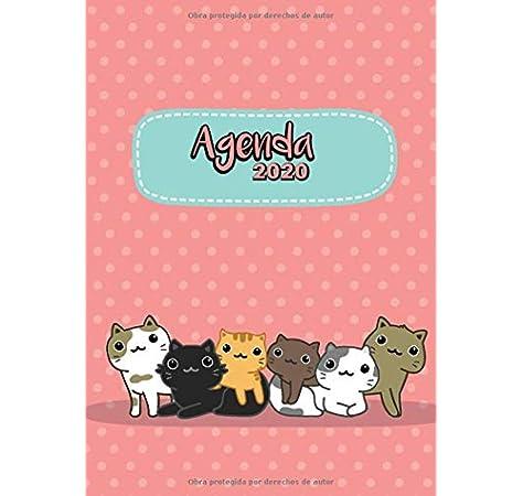 Agenda 2020: Tema Gatos Kawaii Rosa Agenda Mensual y Semanal + Organizador I Enero a Diciembre 2020 A4: Amazon.es: Poblana Journals, Casa: Libros
