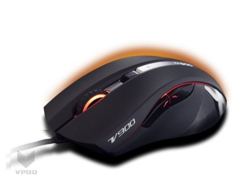 Auawak Rapoo V900 Ergonomic Gaming Mouse With Laser Engine APM 16-Million-Colors Smart Breathing Light Built-in 32-bit 60MHz V-Power3 Core for PC Laptops and Desktops - - Keyboard M20