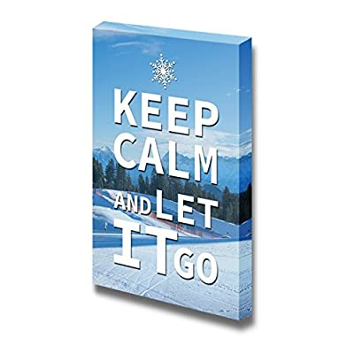 Canvas Wrap Wall Art - Keep Calm and Let it Go | Modern Wall Art Stretched Canvas Prints Ready to Hang - 36