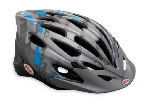 Bell Alibi Youth Bike Helmet, Titanium/Blue Line Change, Universal Youth Size