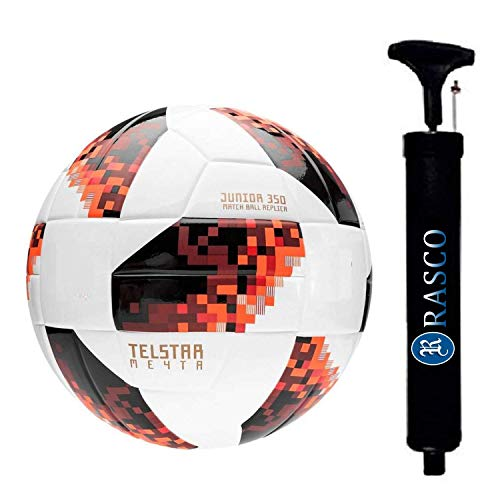 RASCO Combo TELSTAR Football with Air Pump  5, Red
