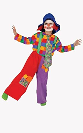 Dress up America Disfraz de Payaso de niño Colorido: Amazon ...