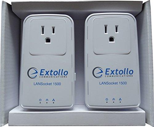 Extollo LANSocket 1500 Powerline HomePlug AV2 MIMO 2 Gbps