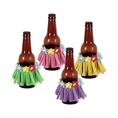 Bargain World Drink Hula Skirts (4/Pkg) (with Sticky Notes) ()