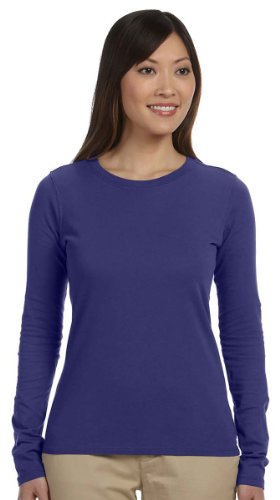 econscious Ladies' 4.4 oz., 100% Organic Cotton Classic Long-Sleeve T-Shirt - IRIS - S