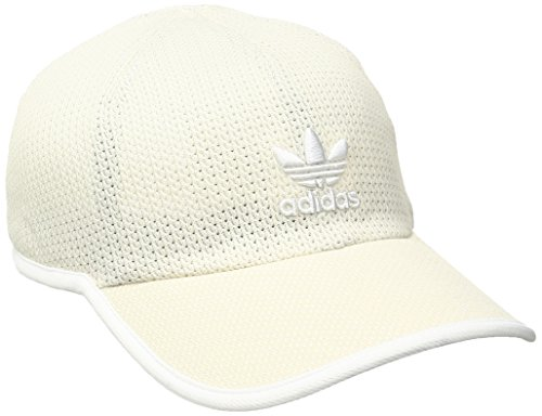 adidas Men's Originals Relaxed Strap Back Cap, One Size, Clear Brown/White weave