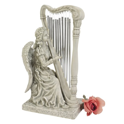 Cheap Design Toscano Music from Heaven Angel Statue, Small, Two Tone Stone