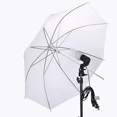 PHOTO MASTER 600W Photography Continuous Umbrellas Lighting Kit for Video Studio Includes 6x6.6ft Background Stand, 3 Backdrops, 2 Soft Umbrellas,1 Umbrella Reflector, 4 Clamps, Carrying Bags by PHOTO MASTER (Image #2)