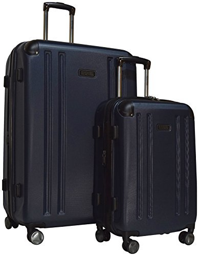Kenneth Cole Reaction 8 Wheelin Expandable Luggage Spinner Wheeled Suitcase, 2 Pc Set , 29 & 20-inch (Navy)