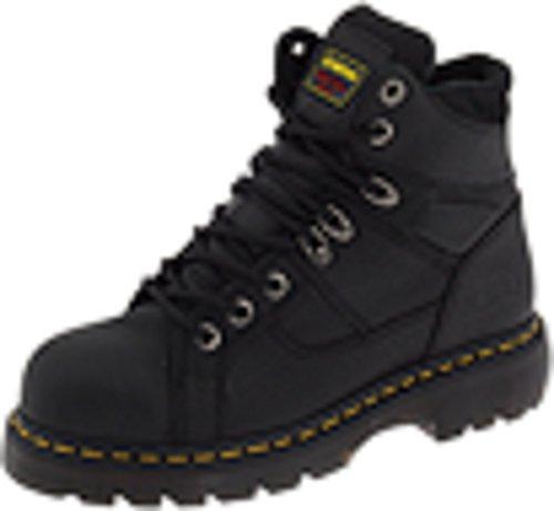 Dr. Martens Ironbridge Safety Toe Boot,Black,6 UK/8 M US Women's/7 M US Men's
