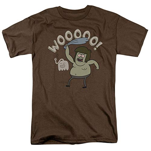 Regular Show Muscle Man Cartoon Network T Shirt (X-Large) Brown