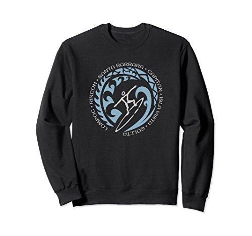 Sweatshirt For Santa Barbara Surf Surfing Fans Surfers ()