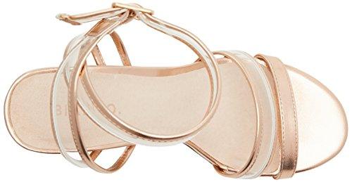 94 Transparent Shoe Bride Or Bronze Femme Bianco Cheville Sandales Open nxzdTHvR