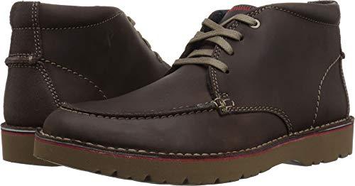 CLARKS Men's Vargo Rise Ankle Boot, Dark Brown Leather, 115