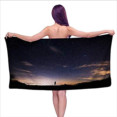 Beach Towel?Starry Sky,Home Kitchen Bathroom Spa Gym Swim Hotel Use