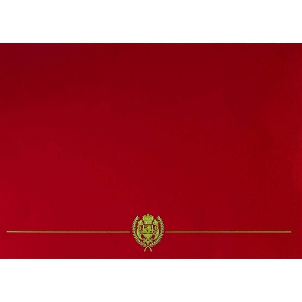GP Classic Crest Red Certificate Covers - Pack of 25