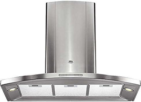 AEG DK9990M aluminium 650 m³/h De pared Plata - Campana (650 m³/h, Recirculación, 62,2 dB, De pared, Plata, 20 W): Amazon.es: Hogar