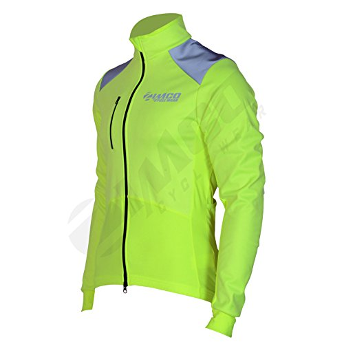 Zimco Pro Winter Cycling Jacket High Visibility Bicycle Thermal Jacket Bike Wind Jersey - Wind Pro Jacket