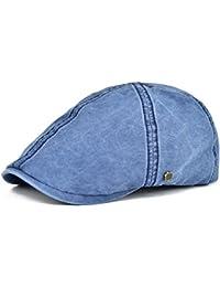985b207fc86ff Ivy Caps 100% Cotton Washed Plain Flat Caps Newsboy Caps Cabbie hat