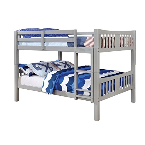 Furniture of America Edith Full over Full Bunk Bed in Gray