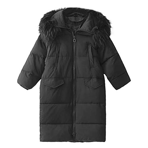iHHAPY Women's Winter Parka Long Coat Quilted Jacket with Faux Fur Hood Loose Coat Padded Puffer Zip Jacket Solid Color (Dolce & Gabbana Belted Jeans)