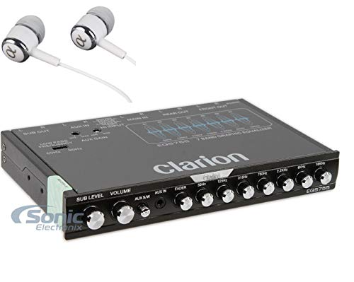 Clarion EQS755 7-Band Car Audio Graphic Equalizer
