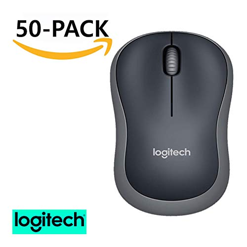 (Logitech M185 Wireless Mouse for Computers Laptops Fast Scrolling Bundle (50-Pack))