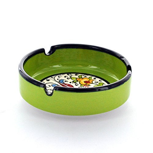 Nimet Classical Turkish Porcelain Ashtray 10cm by Paykoc N13010 Light Green