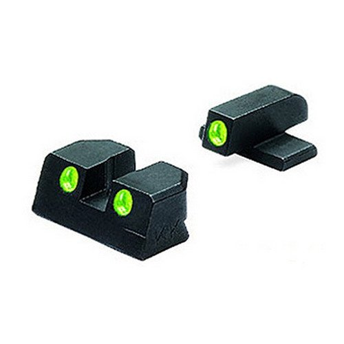 MAKO Sig Sauer Tru-Dot Night Sight fits 9mm & 357. Green rear and front sight by Meprolight