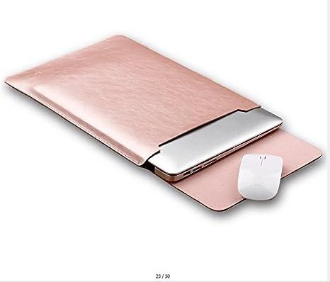 GENORTH®Funda de Cuero Microfibra PU Resistente al Agua para Apple ordenador portátil MacBook 12