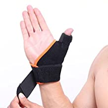 Genmine Arthritis Thumb Splint (Pair) Wrist Brace with Spica Thumb Support Stabilizer for Pain, Sprains, Strains, Arthritis, Carpal Tunnel & Trigger Thumb Immobilizer Universal Size ( Left or Right)