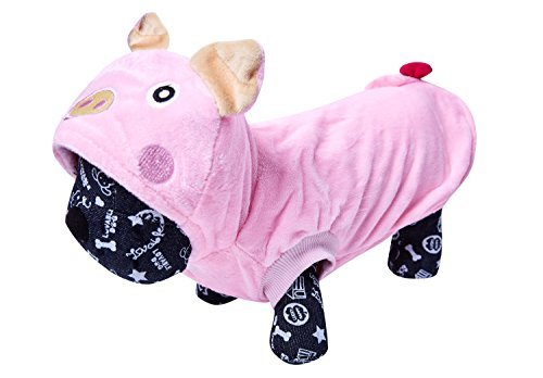 OSPet Pink Pig Winter Coat Puppy Jumpsuit Pet Costume for Small Dog XL -