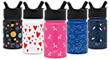 Simple Modern 10oz Summit Kids Water Bottles with Straw Lid Sippy Cup - Dishwasher Safe Vacuum Insulated Tumbler Double Wall Travel Mug 18/8 Stainless Steel Flask - Kids Bubble Dogs