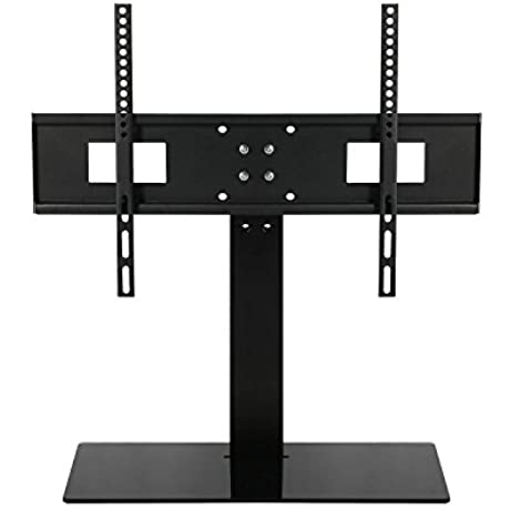 SevenFanS Large Free Height Adjustment Universal Tabletop TV Stand Tv Mount Stand VESA 600x400 LED Television Support Screen TV Stand