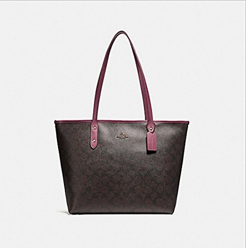 COACH CITY ZIP TOTE, F58292, BROWN ROUGE by Coach