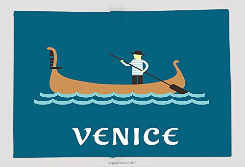 Gondolier Shirt Costume (Supersoft Fleece Throw Blanket Venice Travel Concept With Venetian Gondolier In Traditional Costume In A Wooden Gondola Boat With 300658733)