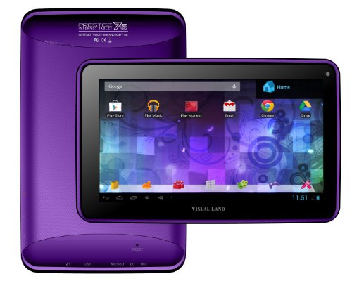 "Visual Land Prestige 7G - 7"" Single Core 8GB Android Tablet with Google Play (Purple)"