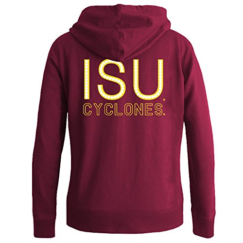 Iowa State Cyclones Cardinal Large Elite Fan Shop NCAA Women's Full Zip Hoodie Team color FZ553