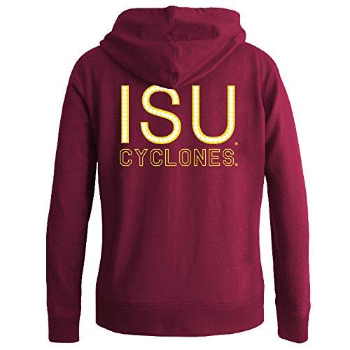 Iowa State Cyclones Women's Full Zip Hooded Sweatshirt Captain Cardinal - (Iowa Womens Hoody Zip Sweatshirt)