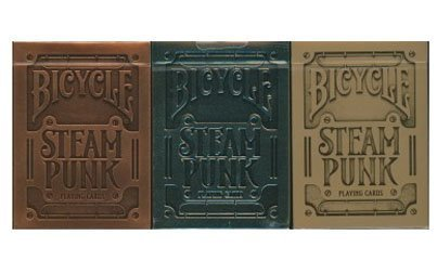 Bicycle Steampunk Playing Cards Collection 3 Deck Set 3