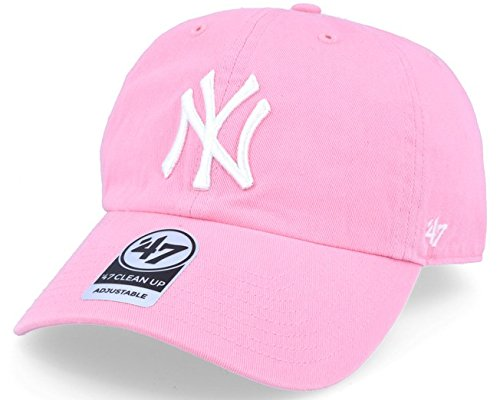 '47 MLB New York Yankees Women's Brand Clean Up Cap (Rose Pink, One Size)