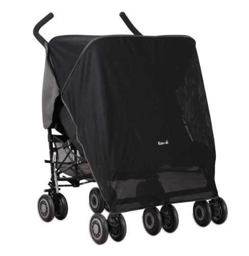 Koo-DI Double Sun and Sleep Stroller Cover (Black)