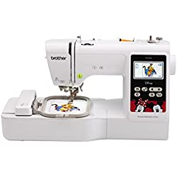 Brother Embroidery Machine, PE550D, 125 Built-In Designs, 45 Disney Designs, Large Color Touch LCD Display, Automatic Needle Threader, 25-Year Limited Warranty